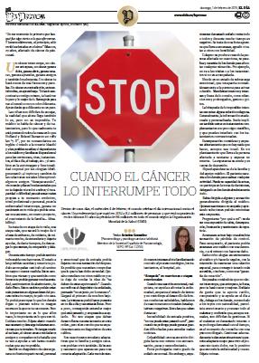 Artículo para el Periodico El Día por el #DíaMundialContraElCancer 1.febrero.2015