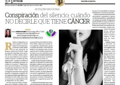 Artículo para el Día por el #DíaMundialContraElCáncer 23-feb-2014