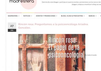 Ariadna Gonzalez psicologa en Madresfera