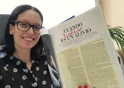 Mi entrevista para la Revista La Vida en Rosa - LVR para afectadas de cáncer - número otoño-invierno 2018